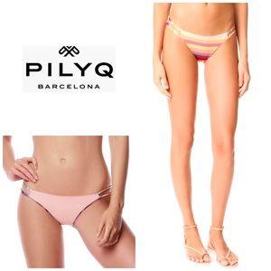 PILYQ Sunset Reversible full bikini bottoms. NWT